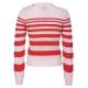 RN4ROSSO / ROS gestreifter Pullover mit Rundhalsausschnitt aus Baumwolle