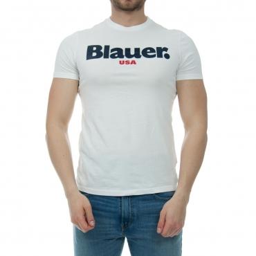 Tshirt Blauer Usa Uomo Stampa 100 BIANCO
