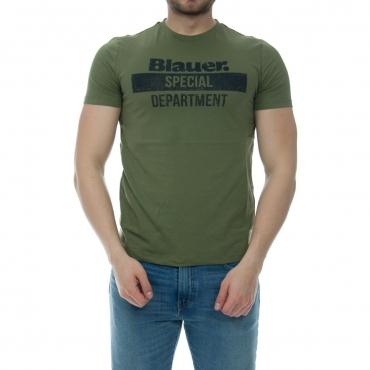 Tshirt Blauer Usa Uomo Stampa Old 651 VERDE ALGA