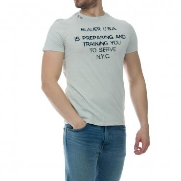 Tshirt Blauer Usa Uomo Manica Corta Stampa 934 GRIGIO