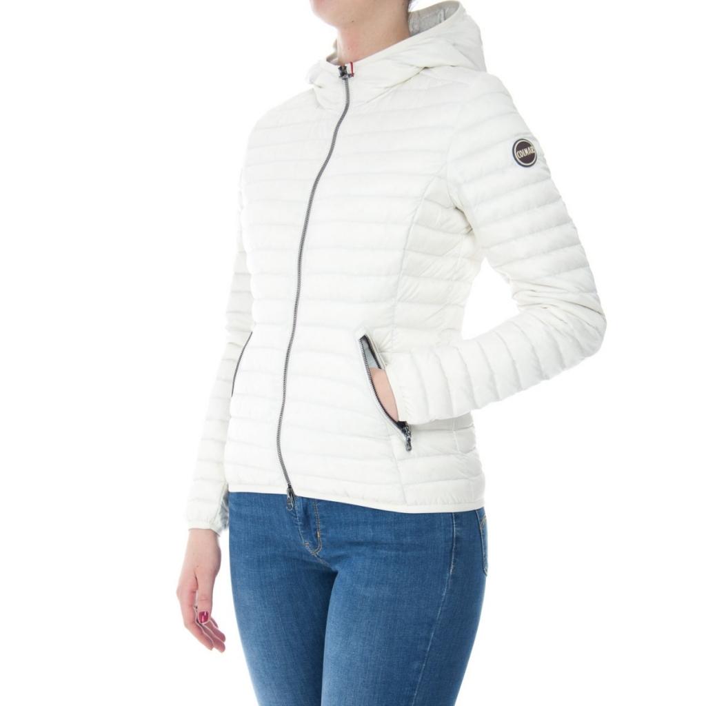 Down Jacket Colmar Originals Woman Light Hood 233 PURE LONDON ... 8646c429595