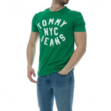 T-shirt Tommy Hilfiger Uomo Essential Logo 391 JELLY BEAN