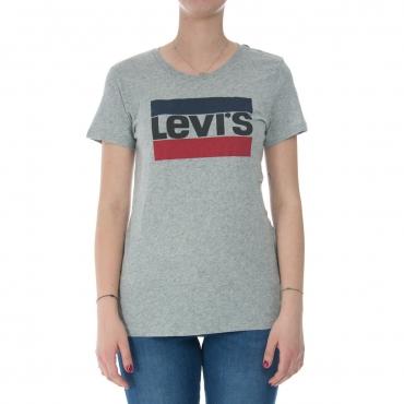 T-shirt Levis Donna Logo 1986 0303 GREY