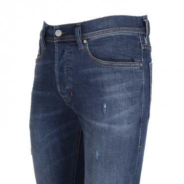 Jeans Tepphar in denim blu con effetto destroyed  01