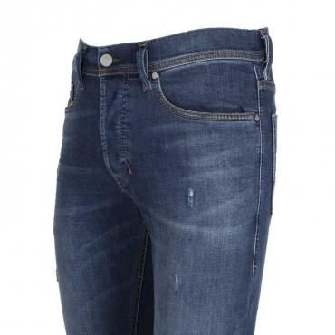 Jeans Tepphar in denim blu con effetto destroyed  01