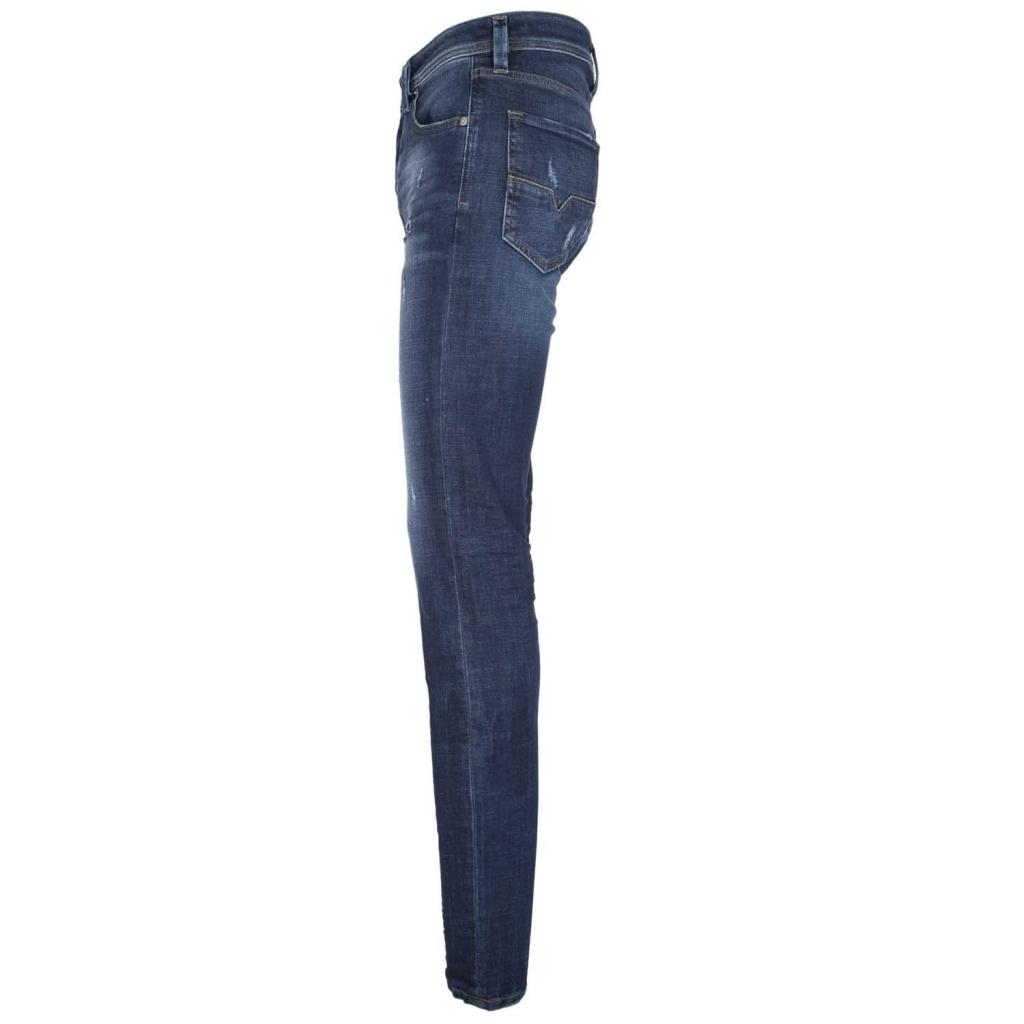 Jeans Larkee-Beex destroyed in denim blu scuro  01