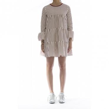 Vestito - 145510 vestito 777 - Bianco bordo