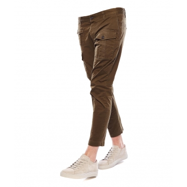 Pantaloni cargo green