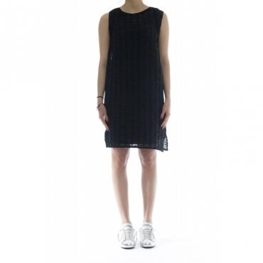 Vestito - 18203 vestito mussola 006 - Nero