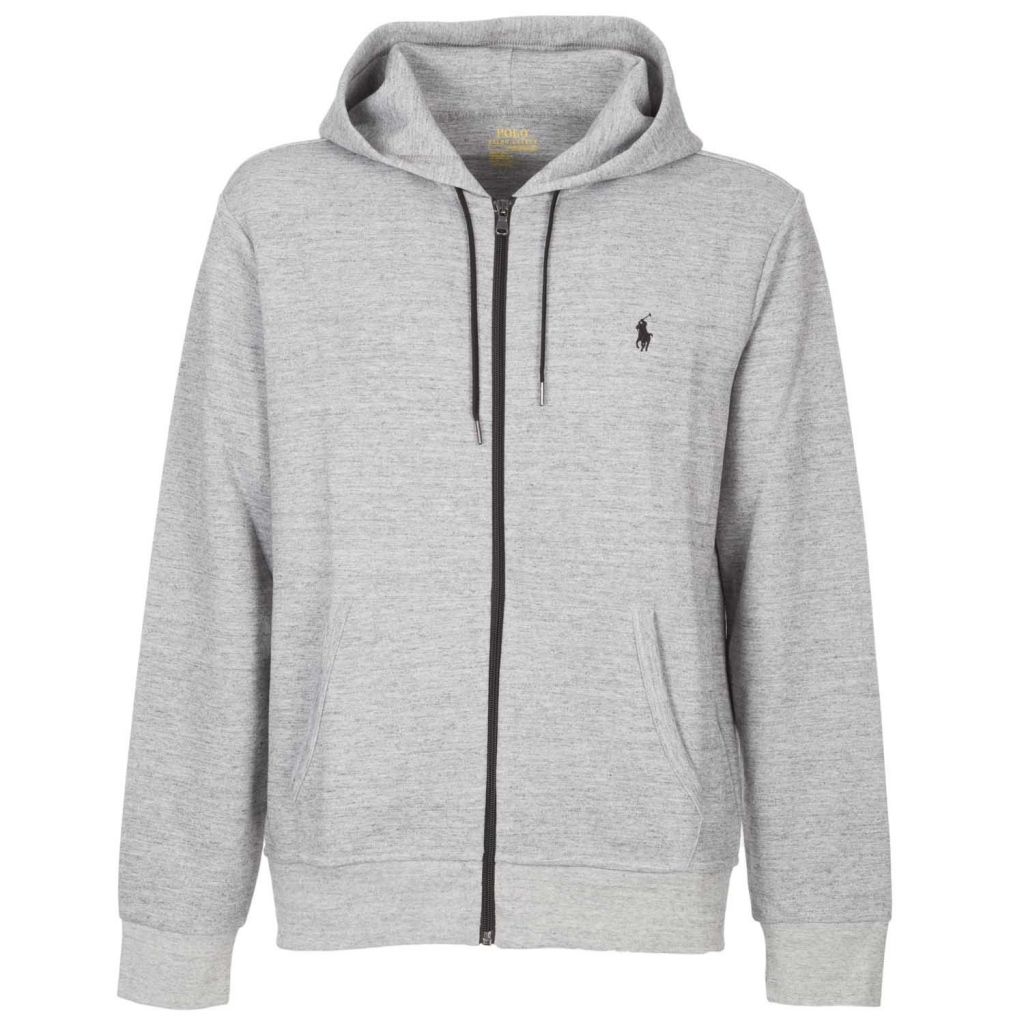 1e796e6858e7c Gray zip hooded sweatshirt with embroidered VINTAGE SA logo   Bowdoo.com