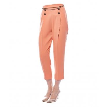 Pantaloni con pieghe in stile marinaio rose