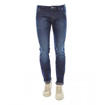 Pantalone in misto cotone blue