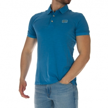 Polo Napapijri Uomo Piquet Fiammato BC2 LIGHT BLU