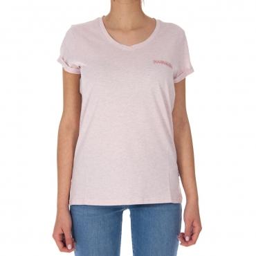 T-shirt Napapijri Donna Cotone PA1 PALE PINK