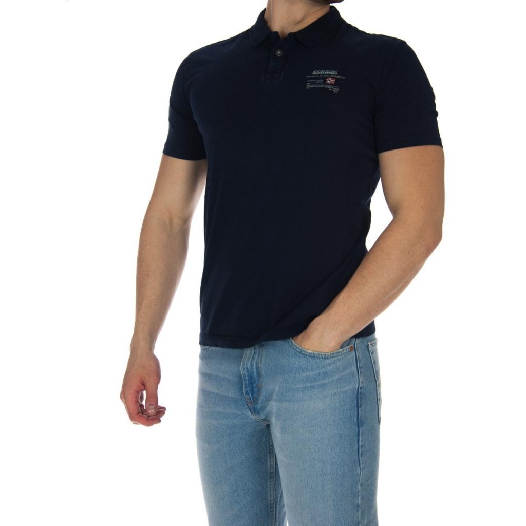 T-shirt, polo e camicie NAPAPIJRI Eonthe Blu Marine Polo Uomo Abbigliamento