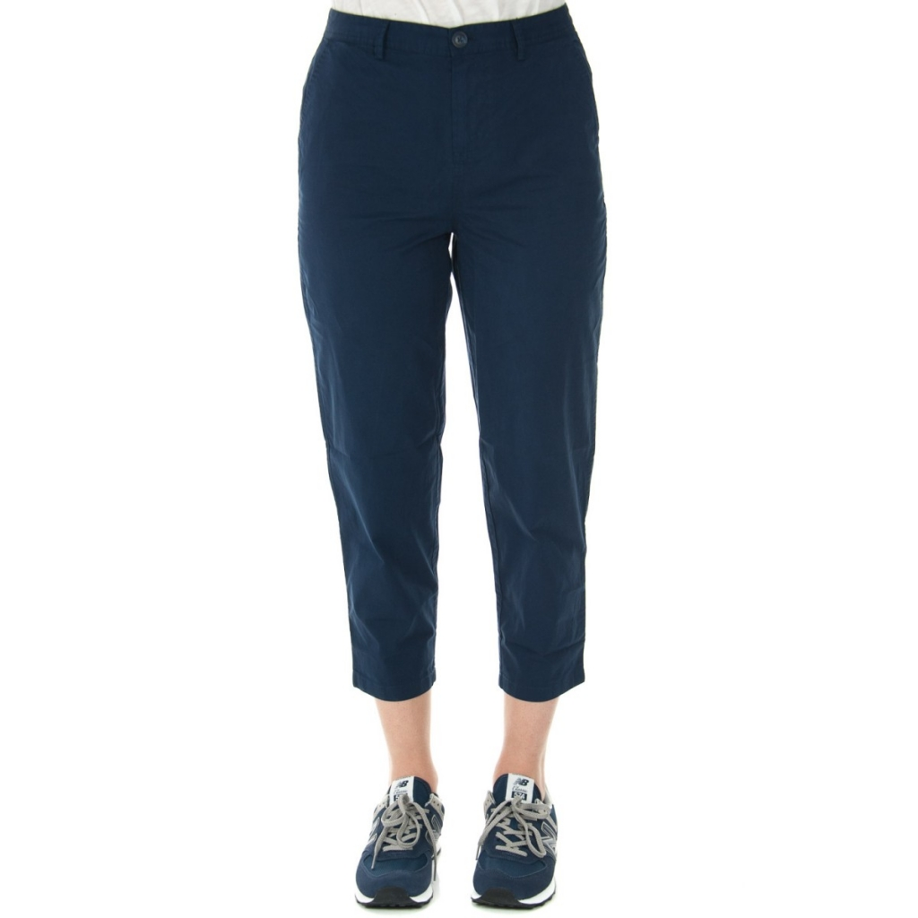 bde34d0228 Tommy Hilfiger Trousers Woman Relaxed Chino 002 BLACK IRIS | Bowdoo.com