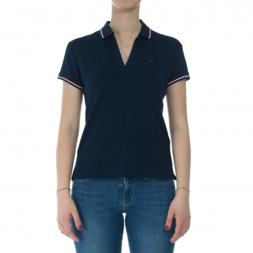 T-shirt Tommy Hilfiger Donna Modern Fit 002 BLACK IRIS