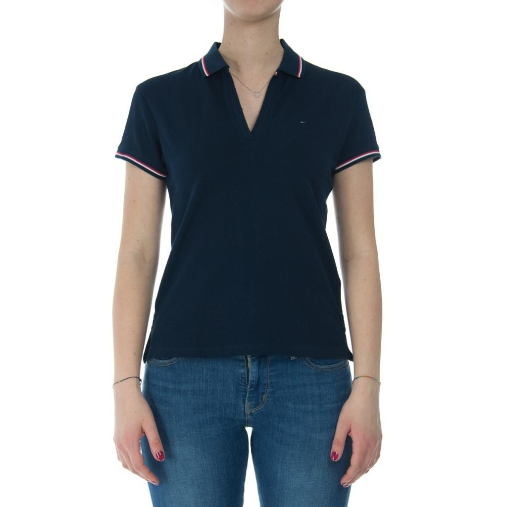 11eda4b69fb0 Tommy Hilfiger Women s Modern Fit 002 BLACK IRIS T-shirt