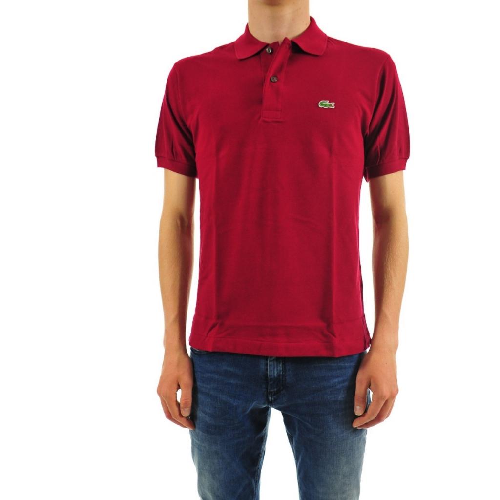 purchase cheap cc8c4 04702 Lacoste Men's Polo L1212 Piquet Mc 476 BORDEAUX T-Shirt | Bowdoo.com