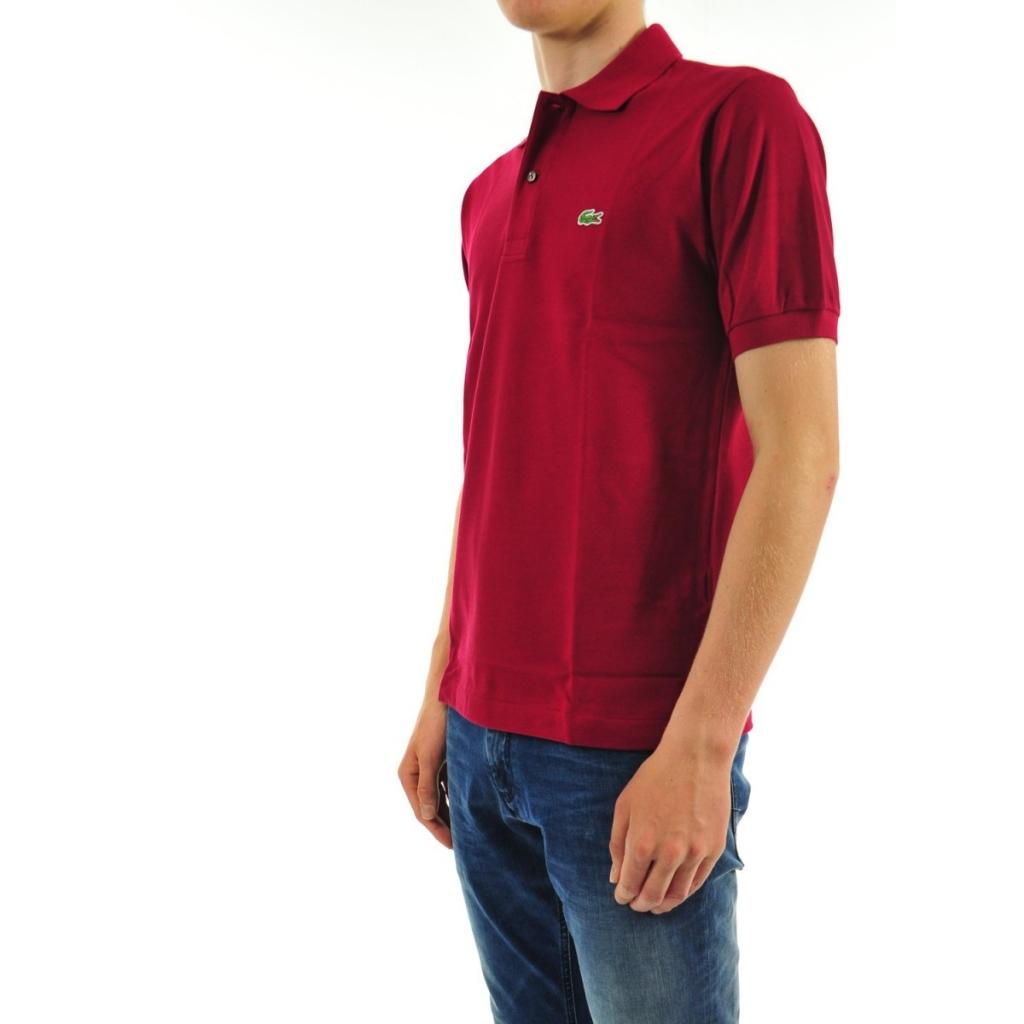 Lacoste Herren Polo L1212 Piquet Mc 476 BORDEAUX T-Shirt   Bowdoo.com 2b91c8340f