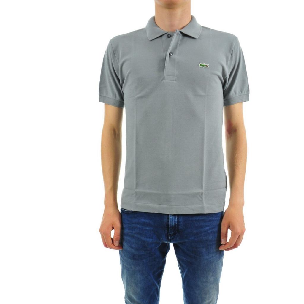 f58ddfabdcbd Lacoste Men s Polo L1212 Piquet Mc KC8 PLATINE T-Shirt