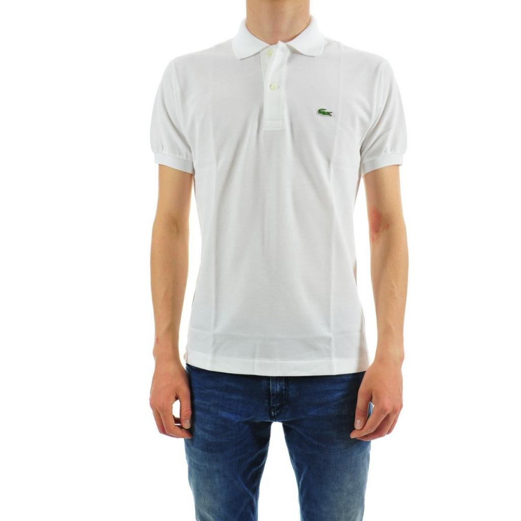 574a9488730d Lacoste Men s Polo L1212 Piquet Mc 001 BLANC T-Shirt