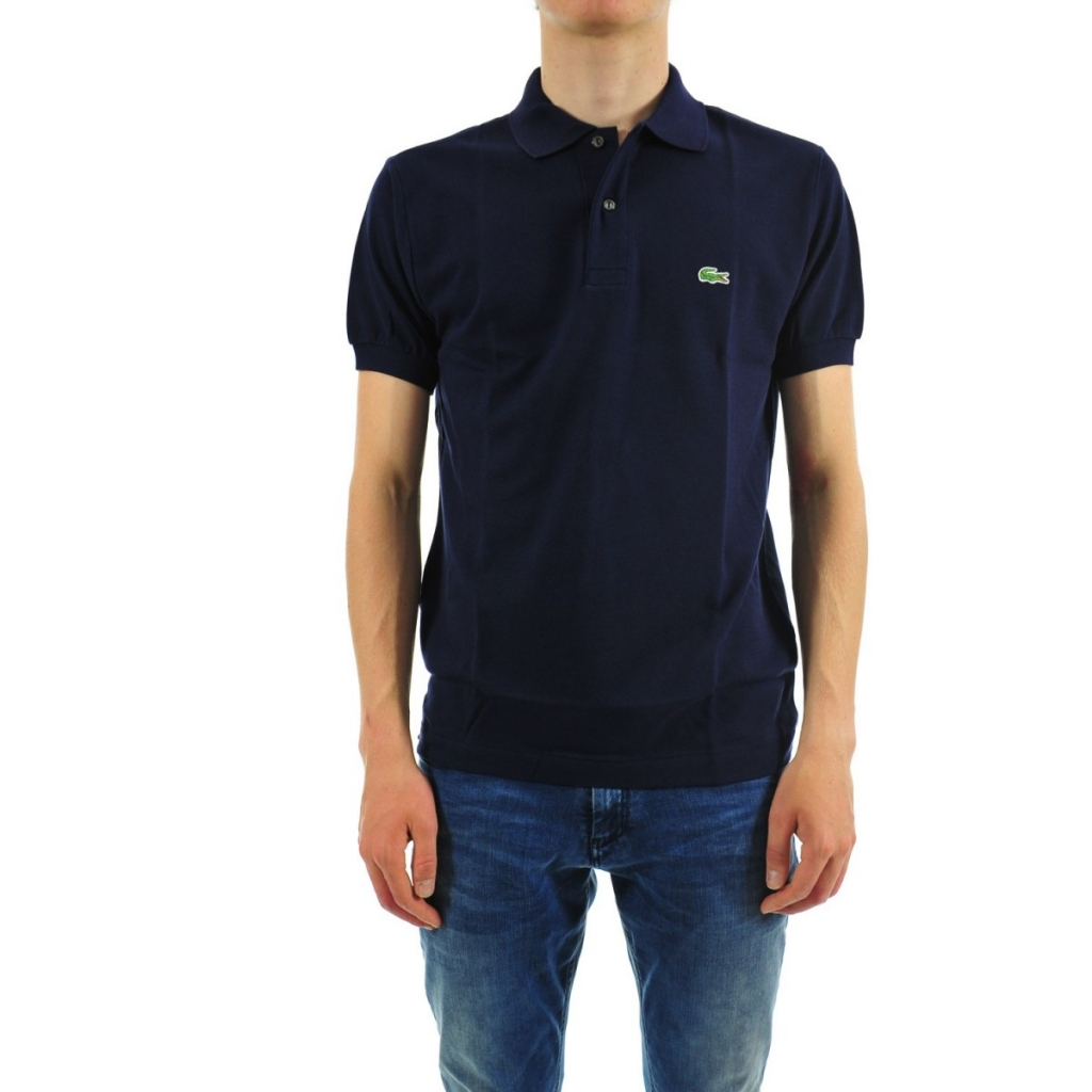 7eb42312a00 Lacoste Men s Polo L1212 Piquet Mc 166 MARINE T-Shirt