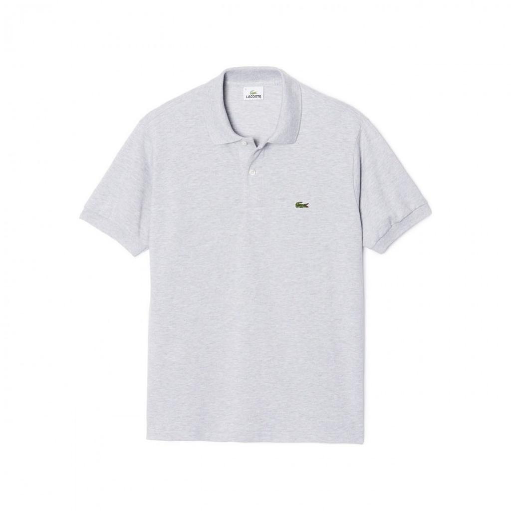 0a0c0642ef5 Lacoste Men's Classic Melange Polo L1264 Short Sleeve CCA ARGENT ...