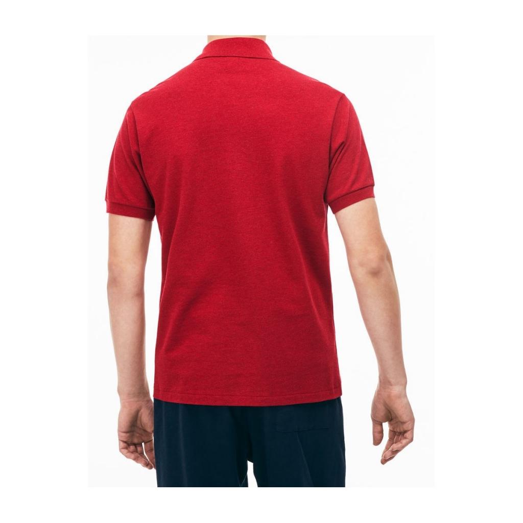 5d35ec49f92 Lacoste Men's Classic Melange L1264 Short Sleeve PHD Polo Shirt ...