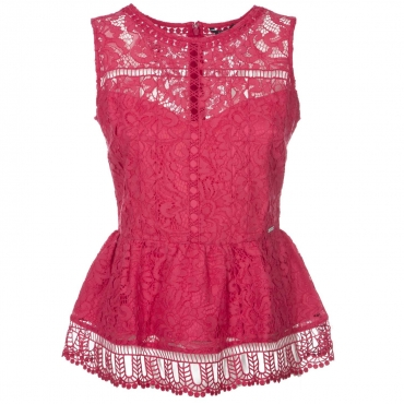 Top smanicato in pizzo WILDHEARTRED
