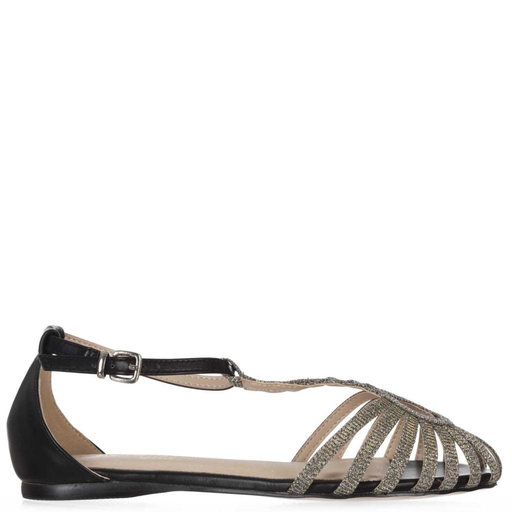 GARDINI SPIRIT - Sandalo con punta glitterata BLACK - Scarpe  e61fa3020b9