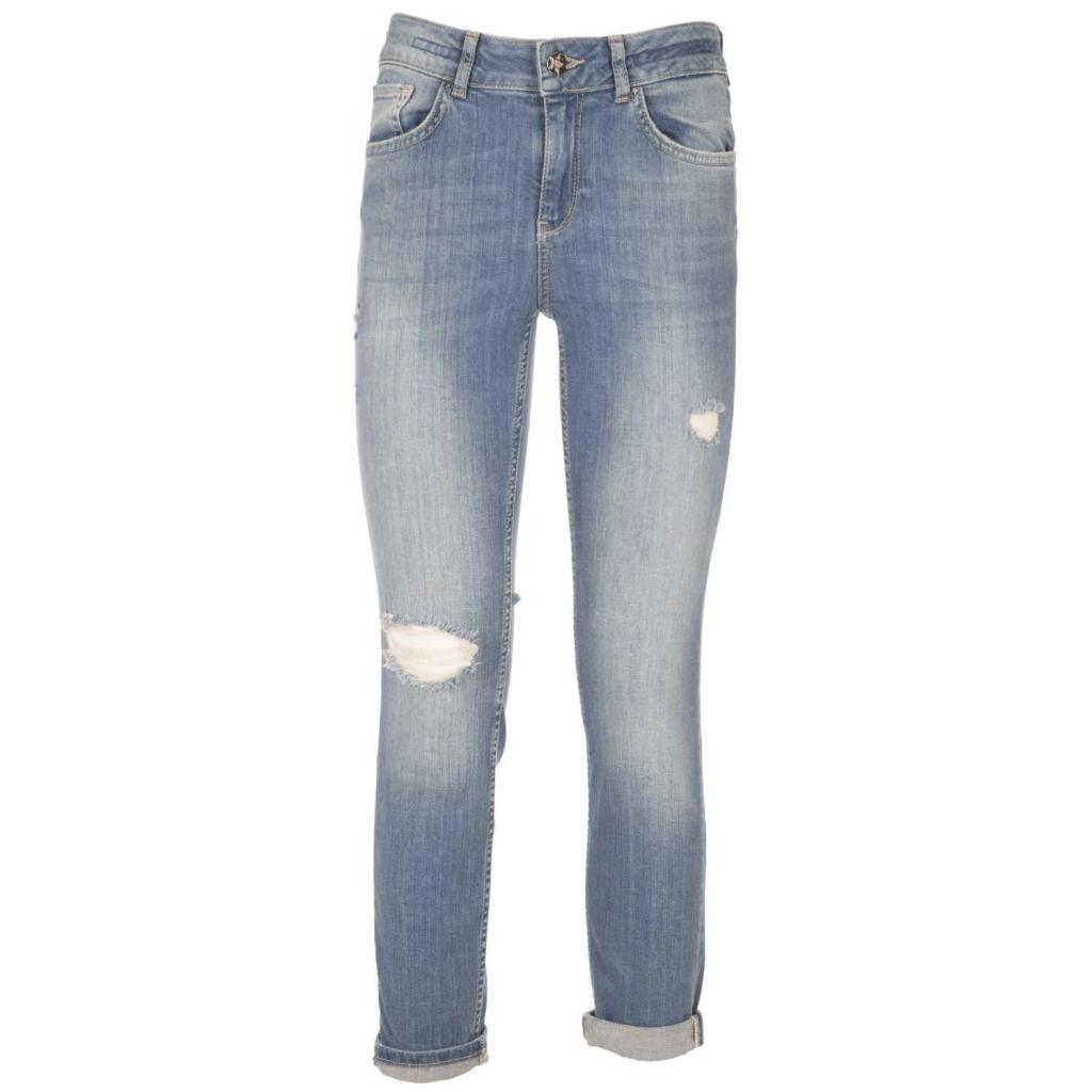 Jeans Etirana con effetto destroyed  JEANSMEDIUM