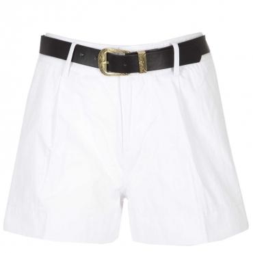 Shorts in cotone con cintura removibile  WHITE