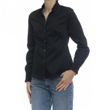 Camicia donna - Pga z0y rasatello cotone UY1 - Nera