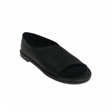1725a scarpa donna nero mod MN01 100 pelle MADE IN ITALY UNICO