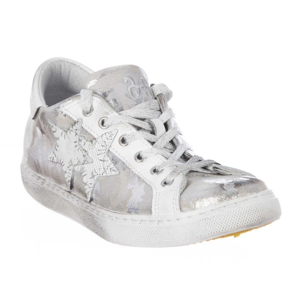 Sneakers con fantasia camouflage argento FANTA/ARGE