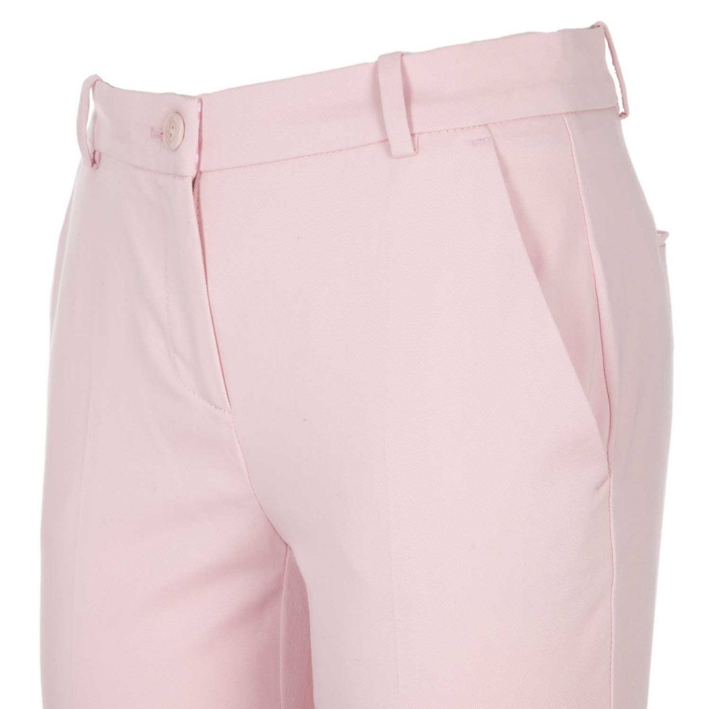 Pantaloni rosa in cotone stretch O92LIGHTPINK