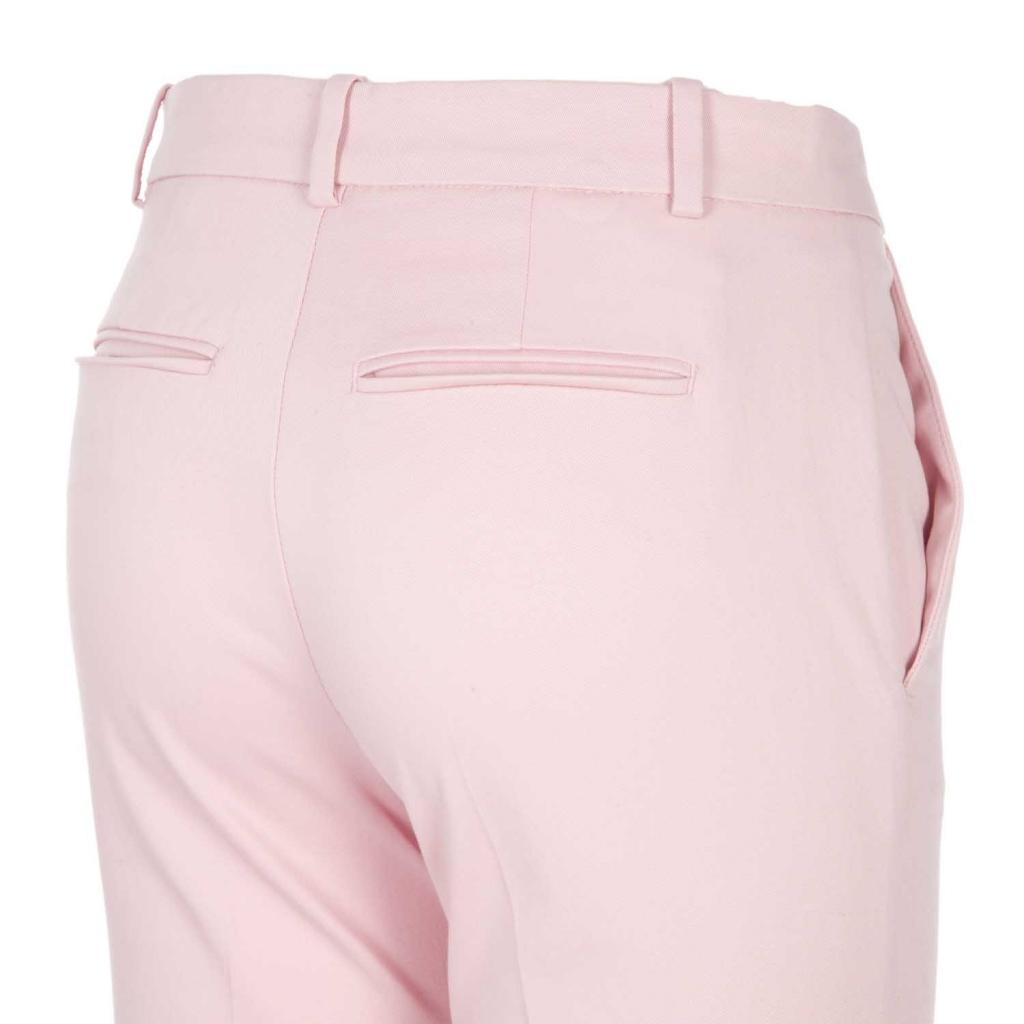 Pantaloni rosa in cotone stretch O92LIGHTPINK