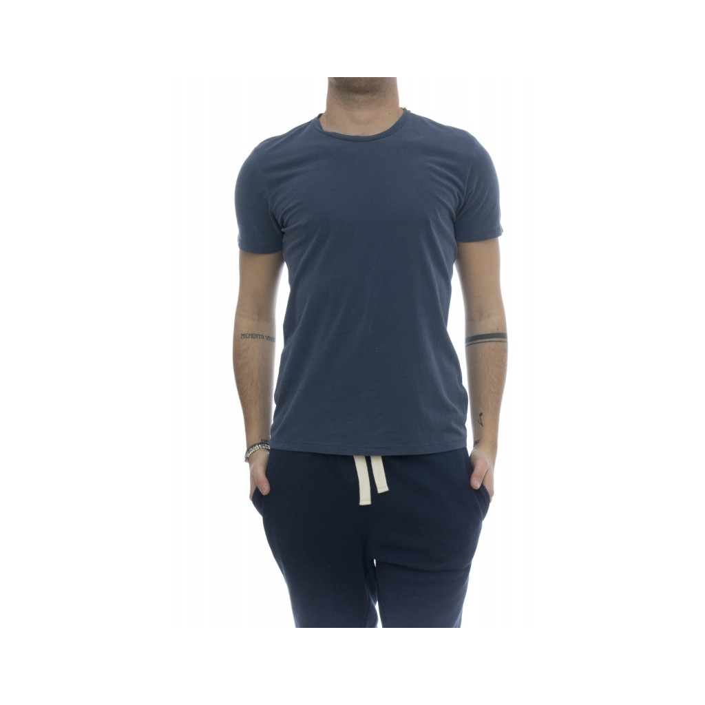 T-shirt - 001 07 t-shirt girocollo crep di cotone 513 - China Blue