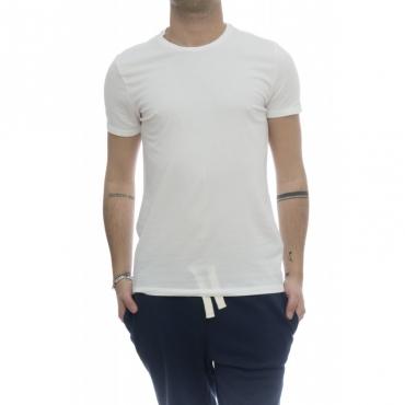 T-shirt - 001 07 t-shirt girocollo crep di cotone 001 - bianco
