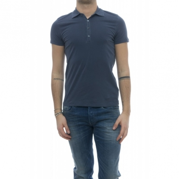 Polo - 006 007 polo crep cotone stone wash 513 - China Blue