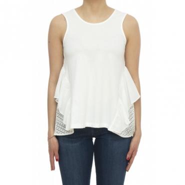 T-shirt - Nueva t-shirt lavorato 60725 - Milk