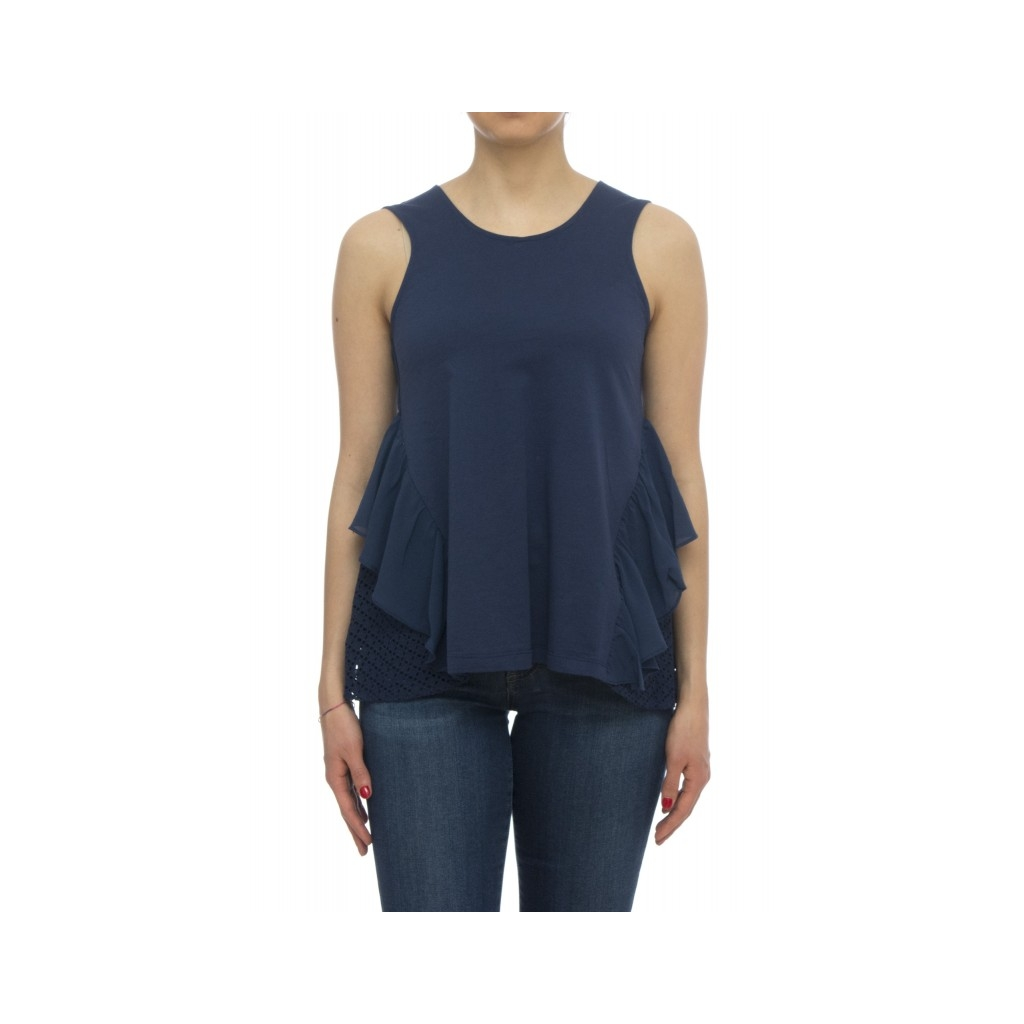 T-shirt - Nueva t-shirt lavorato 74097 - Blu