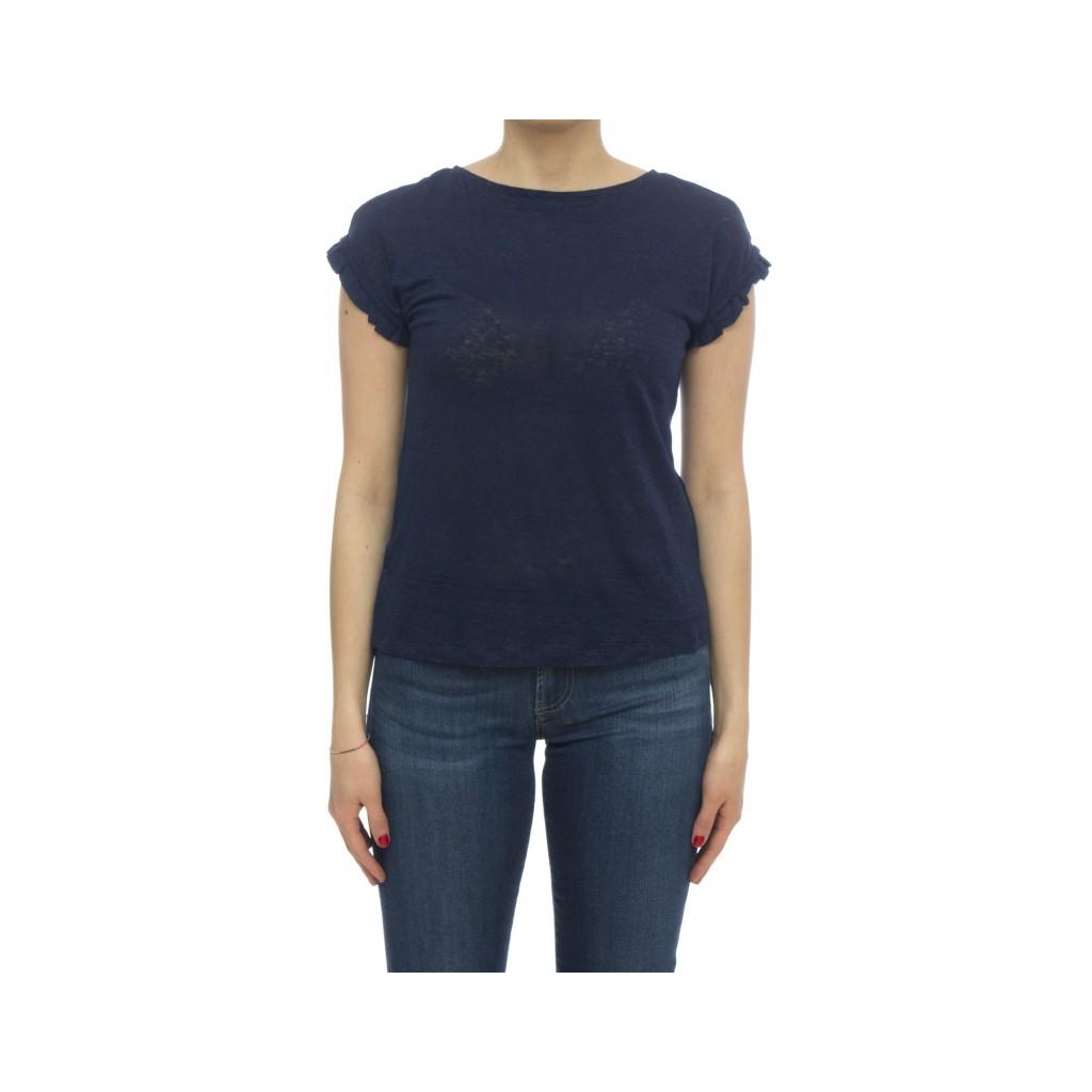 T-shirt - Eoghan t-shirt lino fiocco 72320 - Blu print
