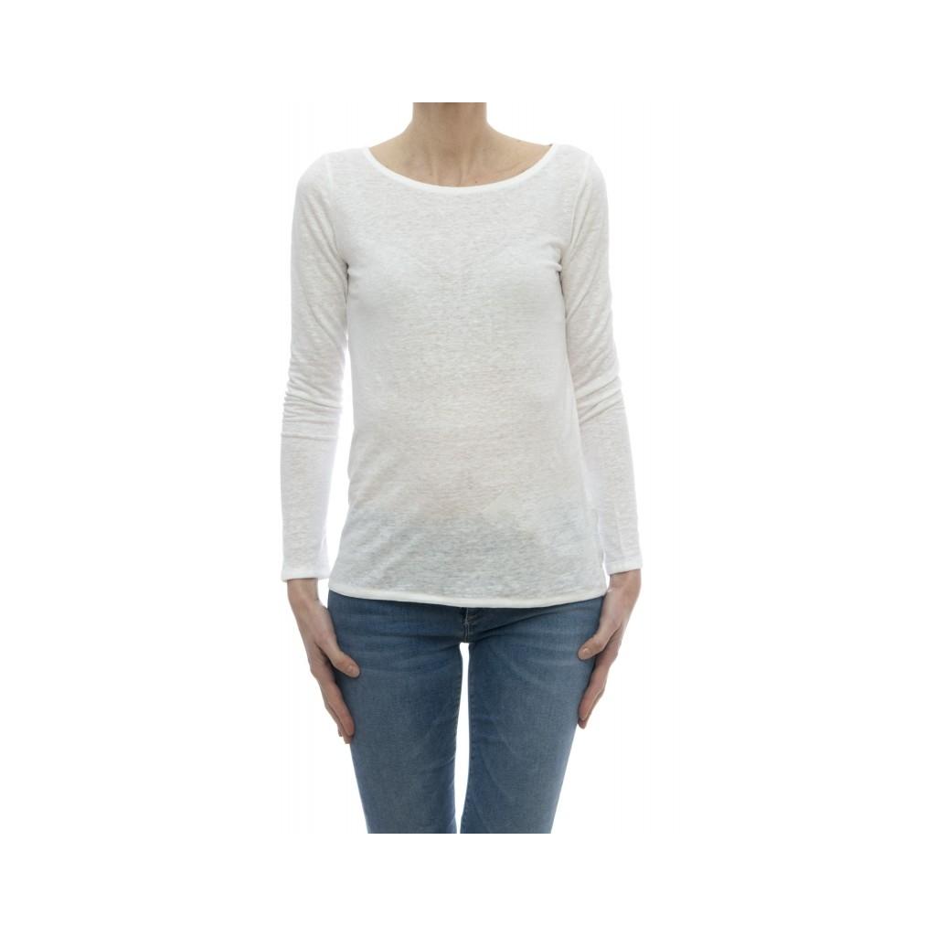 T-shirt - E16 13 lino elastane 001 - bianco