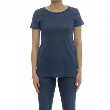T-shirt - E05 10 100 lino 071 - Blue Jeans