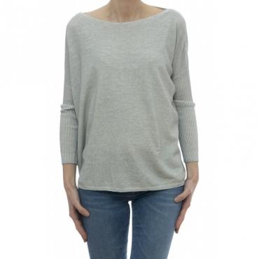 Maglieria - 1489380 maglia over cotone tinto freddo Marmo