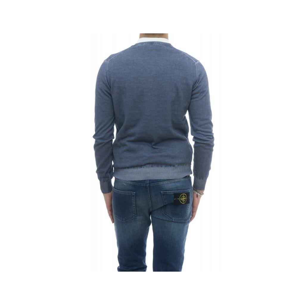 Maglia - 1481351 maglia scollo v lavato a freddo JEANS