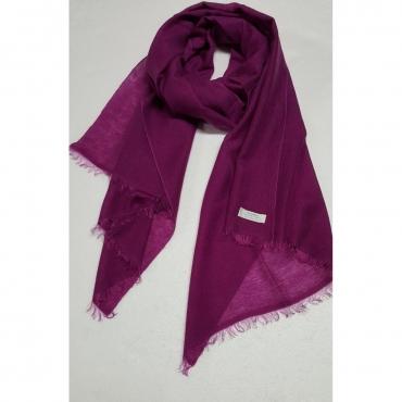 PASHMINA scarf fuxia 80 cashmere 20 silk MADE IN NEPAL Fuchsia