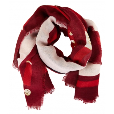 Foulard con stampa Red